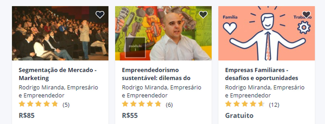 Cursos de Rodrigo Miranda - Udemy