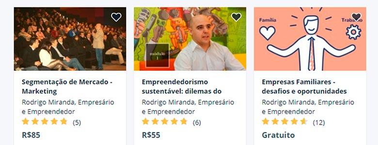 Cursos sobre segmentação de marketing do Rodrigo Miranda