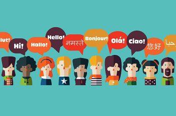 """Vários cartoons de diferentes nacionalidades, dando um """"olá"""""""