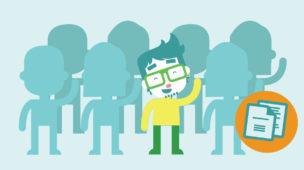 Vetor de um aluno com outros colegas sem identificação
