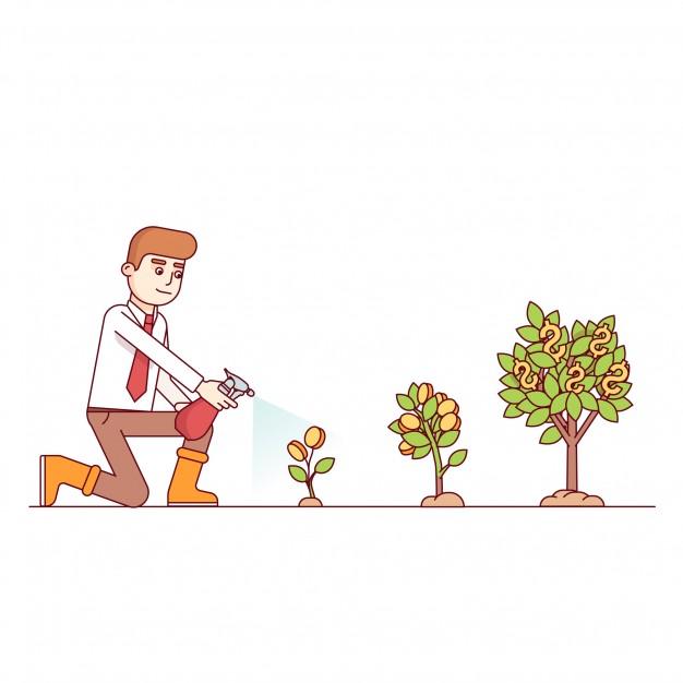 boneco molhando árvores, da menor para a maior